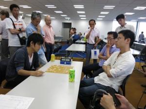 代表決定戦その2、左が沖田幸輝、右が溝上裕亮。