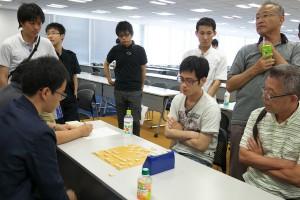 代表決定戦その2、溝上裕亮(左)-沖朋弘(右)